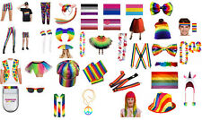 Mens Damas Arco Iris Orgullo de Color multi Fancy Dress Costume-Pick & Mix Lote
