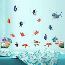 Ocean Fishes Vinyl Wall Sticker Decal Removable Art Nursery Kids Bathroom Decor