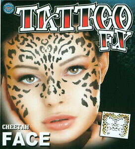 FX CHEETAH CAT ANIMAL FACE TATTOO COSTUME MAKEUP ACCESSORY DFFC500