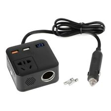 USB Auto Ladegerät Steckdose Adapter DC 12V zu AC 220V 150 W Zigarettenanzünder