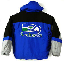 Vintage Seattle Seahawks Mirage Jacket XL Classic Team Collection Hooded Lined