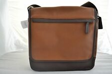 New Coach brown Camden leather cross body laptop messenger map bag F70973