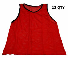 WORKOUTZ YOUTH SCRIMMAGE VESTS RED (12 QTY) SOCCER PINNIES MESH BIBS EQUIPMENT