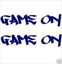 """BOAT NAMES """"GAME ON"""" x2 - MARINE CAST VINYL DECAL/STICKER KIT - Colour Choice"""