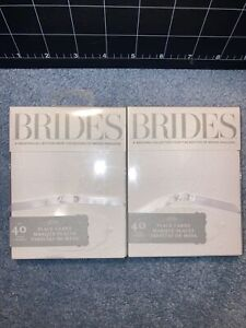 Brides white place cards- 2 Packs Of 40ct Each! NEW