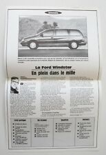 FORD WINDSTAR 1995 LA PRESSE dealer brochure - French - Canada - ST501000218