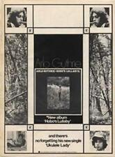 Arlo Guthrie Hobo's Lullabye LP advert Time Out cutting 1972