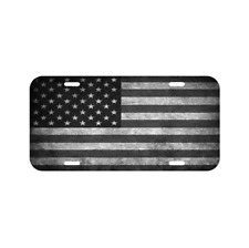 High Gloss Aluminum Novelty Plate Ambesonne Truck License Plate American Flag Themed Semi 18 Wheeler Patriotic Transportation Industrial Vehicle Red White Blue 5.88 X 11.88
