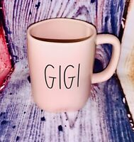 Rae Dunn Magenta GIGI Pink Ceramic Coffee Mug Mothers Day LL Long Letters