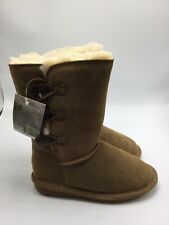BEARPAW Girls Lauren Winter Boot Shoes 1656Y Hickory Size 2