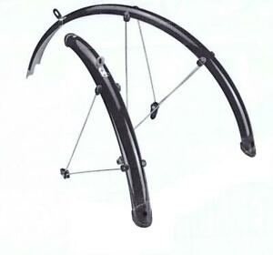 700c Full set Mudguards Black, Adjustable stays, front + rear