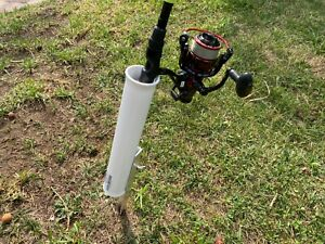 Sand Spike Fishing Rod Holder Surf Lake Lagoon Cast Spin XS64 White, USA Made