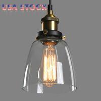 Retro Industrial Edison Loft Glass Pendant Lighting Light Shade Ceiling Lamp