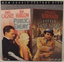 Laserdisc James Cagney Public Enemy Little Caesar Edward G Robinson Two Discs