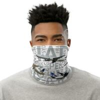 United Aircraft with Airport Codes - Neck Gaiter