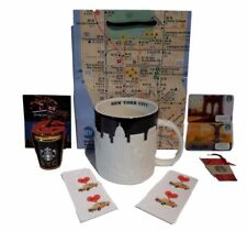Starbucks New York Coffee Mug Cup Taxi  NYC Skyline Super Gift Set Subway Bag