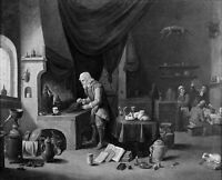 "perfect oil painting handpainted on canvas ""An alchemist in his laboratory""3739"