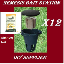 12 NEMESIS termite monitor bait station and 100g bait termite treatment