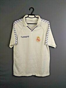 Real Madrid Jersey 1988 1990 Home XL Shirt Hummel Football Soccer Maglia ig93