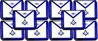 Masonic Square Compass Apron EMBROIDERED  Blue Lodge Fraternity DMA-1000BL 10PCS