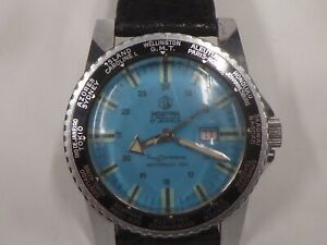 Watch Martima 17 Jewels Superdatomatic Dial Gmt Bottom Turquoise - Lantern