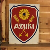 double-sided enamel sign Azuki Japan imperial design  vintage bicycles bikes vtg