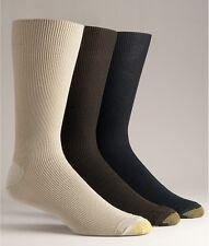 $45 GOLD TOE Mens 3 PAIR PACK Cotton Metropolitan CREW DRESS SOCK SHOE 6-12