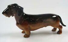 Dackel  Porzellanfigur dackel figur hundefigur Teckel W&A rauhhaar b