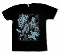 "JIMI HENDRIX ""ORNATE GUITAR"" BLACK T-SHIRT NEW OFFICIAL ADULT GUITAR"