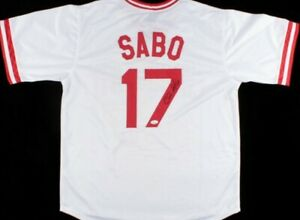 Chris Sabo Signed Cincinnati Reds Custom Jersey (JSA Witness COA)