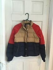 J.Crew Jacket Coat Down Alpine Puffer Small Womens Color Block Euc