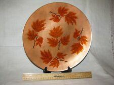Vintage Annemarie Davidson Enamel on Copper Large plate Beautiful work!