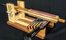 Wooden Guided Knife Sharpener