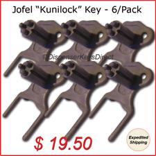 """Jofel """"Kunilock"""" Dispenser Key for Paper Towel &Toilet Tissue Dispensers (6/pk.)"""