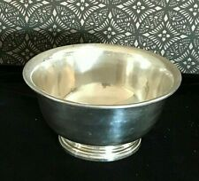 Vintage MANCHESTER SILVER CO Classic Sterling Silver Revere Bowl 8'' x 4'' 350g