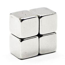 4x Petite Terre Rare Néodyme Cube Bloc Aimants 5 mm x 5 mm x 5 mm