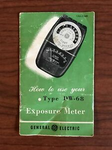 Manual Only General Electric DW-68 Exposure Meter and Film Values Pamphlet DW68