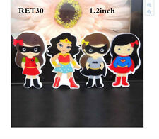 Wonder Woman Planar Resin flatback (pack of 4) Batgirl Supergirl