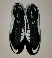Nike Mens Football Cleats Sz 16 White Black Zoom Speed Low TD Molded 643152-110