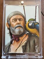 Pirates of the Caribbean Cotton Sketch Card By Jason Potratz & Jack Hai 1/1
