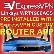 LINKSYS WRT1900ACS PREINSTALLED WITH  EXPRESSVPN ROUTER APP CUSTOM VPN FIRMWARE