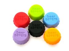 2 X Beer Savers Silicone Bottle Caps (6 Pack) Wine or Soda & Reusable
