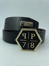 LimitedEdition Gold *Philipp Plein* RareSartorialLeatherBeltHEXAGON90cm MRSP$499