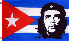 New listing Che Guevara with Cuba Flag 3x5 Polyester