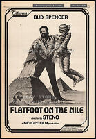 FLATFOOT ON THE NILE__Original 1979 Trade print AD promo / poster__BUD SPENCER
