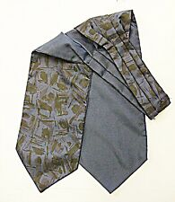 'Vintage' Smart BIADESIVO Cravatta Blu Navy O/S & Navy Blue & nero l'altra