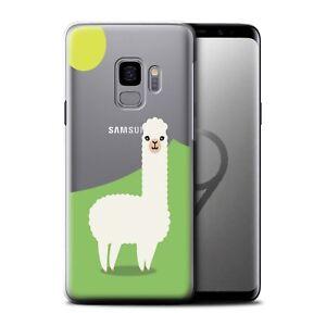 STUFF4 Gel/TPU Case/Cover for Samsung Galaxy S9/G960/Cute Alpaca
