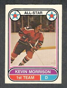 1975-76 KEVIN MORRISON #63 VG-EX+ OPC ** San Diego Mariners Star WHA Hockey Card