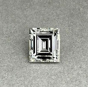 0.52 CT Gleaming Emerald Shape Faceted Fully Polished Natural Green Loose Salt and Pepper Conflict Free Diamond suitable for Solitaire Ring