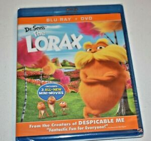 Dr. Seuss The Lorax : Blu-ray + DVD - 2-Disc Combo Pack - Sealed + 3-Mini Movies